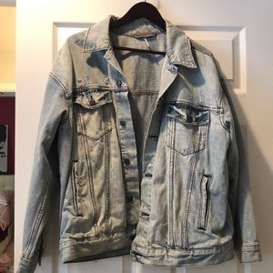Medium/large free people jean jacket